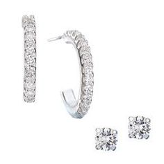 www.youravon.com/bkeller for free shipping on all orders over $40, plus I, Ben Keller, Avon Ind Sales Rep in Harrison, OH, ship out free gifts and samples personally after every order placed Sterling Silver CZ Hoop And Stud Earring Set