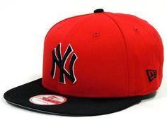 d56fb2747855f Boné New Era 9FIFTY Strapback New York Yankees Vermelho-Preto