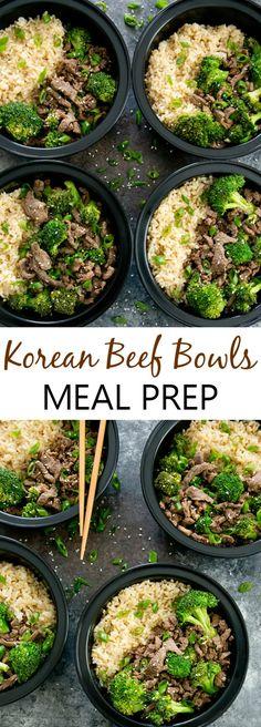 Korean Beef Bowls Weekly Meal Prep