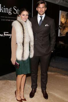 Olivia Palermo and Johannes Huebl at Salvatore Ferragamo #Ferragamo