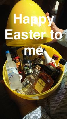 Easter basket for girlfriendboyfriend im so hoppy youre in my the easter basket i made for my 25 yr old daughter and her boyfriend negle Image collections