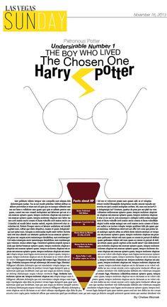 Newspaper Design. #HarryPotter #Design #Featurepage