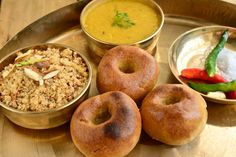 Indian rajasthani meal consisting of Daal,Bati and choor , Rajasthani Food, Daal, Order Food Online, Best Places To Eat, Doughnut, The Good Place, Spices, Restaurant, Bread