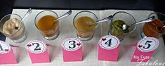 Guess the baby foods correctly and win! A very fun and not too expensive baby shower idea!