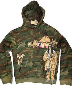 NEW Ralph Lauren Denim and Supply USA INDIAN CAMO Hoodie *SOLD OUT EVERYWHERE*