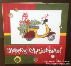 """Scrapbooking Sue: Merry Christmas Card with the Close To My Heart (CTMH) """"Make It Merry"""" stamp set! http://scrapbookingsue.ctmh.com/Retail/Product.aspx?ItemID=8209"""