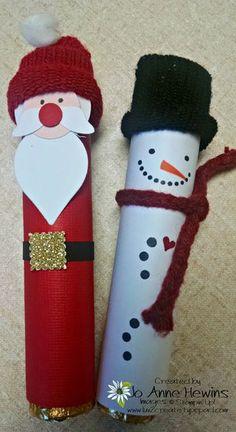 Craft 8 rollo santa and snowman Christmas Fair Ideas, Christmas Crafts For Gifts, Homemade Christmas Gifts, Handmade Christmas, Christmas Wrapper, Christmas Candy, Candy Bar Gifts, Christmas Neighbor, Christmas Lanterns