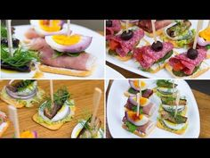 Crackers appetizers - 3 tasty and simple ways Antipasto, Crackers Appetizers, Nutella, Welcome Drink, Canapes, Party Snacks, Simple Way, Sushi, Buffet