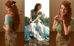 the-porcelain-princess:  Giselle Disneybound complete with Pip!