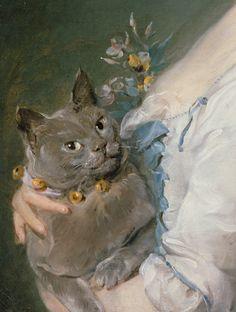 """paintingses: """" """" Magdaleine Pinceloup de la Grange, née de Parseval (detail) by…"""