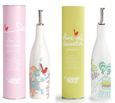 Adorable and playful olive oil decantur and packaging by Australian based Mozi