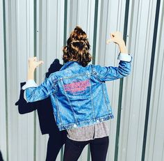 Cute denim jacket with my favorite new show, Stranger Things!