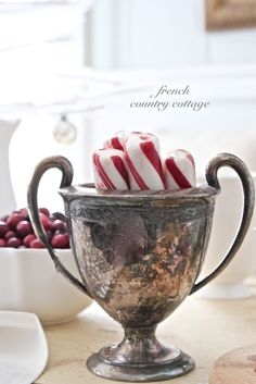 Peppermint Christmas Candy Silver Trophy