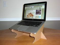 DIY Cardboard Laptop Stand