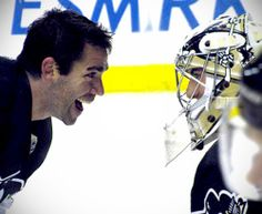 Pascal Dupuis and Marc-Andre Fleury. Missing you on the ice Duper! Pens Hockey, Ice Hockey Teams, Hockey Puck, Hockey Stuff, Sports Teams, Pittsburgh Sports, Pittsburgh Penguins Hockey, Pascal Dupuis, All About Penguins