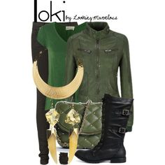Not really into trying to look l like a superhero as such, but love this Loki inspired outfit. Marvel Fashion, Nerd Fashion, Fandom Fashion, Loki Clothes, Marvel Clothes, Avengers Clothes, Disney Themed Outfits, Disney Bound Outfits, Casual Cosplay