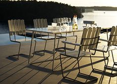 Grythyttan Stålmøbler - Køb på ROOM21.dk Outdoor Chairs, Outdoor Furniture Sets, Outdoor Decor, Classic Series, Kobe, Furniture Design, Dining Table, Home Decor, Ideas