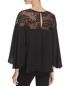 $MILLY Sequined Tulle Angie Blouse - Bloomingdale's