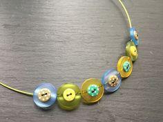Button Necklace  Layered Button Choker £9.50