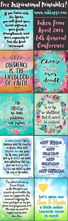 9 free inspirational printables from the april 2016 lds general conference
