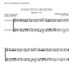CARULLI. Andantino Grazioso Op. 41 Guitar duo arrangement. http://www.guitarraul.com/p/35/andantino-grazioso-op241-carulli-gratis