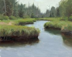 """Moose River Plains Wild Forest"" (Adirondacks, NY) by Adam Clague • Oil on panel • 8""x10"" • Sold"