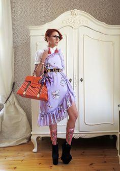 The wardrobe of Ms. B: Lilac