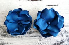 Peacock Blue Bobby Pins Royal Blue Pins Royal by TwoCatsAndAnOwl, $12.00