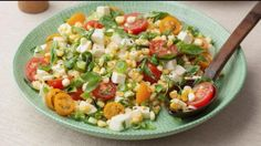 Ripe tomatoes and fresh corn combine for a mouthwatering summer salad.