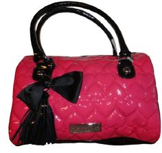 Women's Betsey Johnson Purse Handbag Be Mine Satchel Pink. Disclosure: Affiliate Link