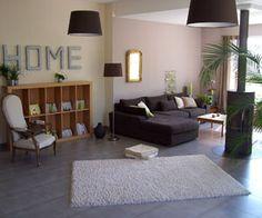 canapé gris et table basse en bois | Déco | Pinterest | Salons ...