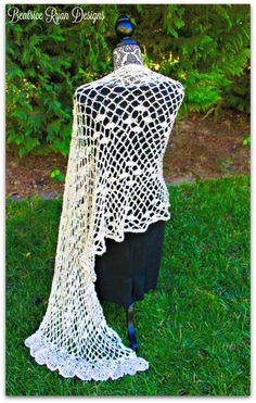 Chiffon Soiree Shawl. Free easy-level pattern.