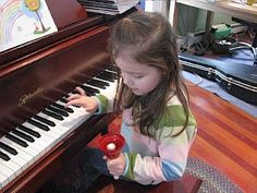 Ear training. Students choose a bell and find the matching note on the piano. Taken from Notable Music Studio: Ear Training