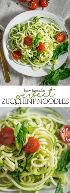 Sharing my simple, yet fool proof method of making perfect zucchini noodles, every time.
