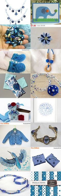 Great blue on Etsy by styledonna on Etsy--Pinned with TreasuryPin.com