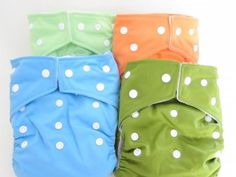 12 Cloth Diapers for $69.9 - Bright  Colors