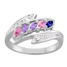 2-6 Marquise and Accents Mother's Ring