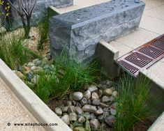 Bioretention/ Rain Garden at Constitution Square in Washington, DC. www.sitephocus.com