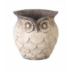 Clay Pot Owl Planter - Pop a pot of Spring Bulbs into this Owl Planter to make a gorgeous gift.  http://www.cathyfrith.com/31,34,home-decor-clay-pot-owl-planter.html