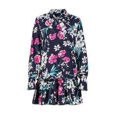 6a4c74d537 Women s Floral Print Loose Ruffled Black Dress-Habitout