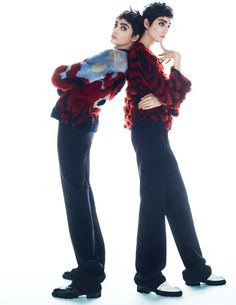 lia pavlova and odette pavlova by txema yeste for vogue russia november 2015   visual optimism; fashion editorials, shows, campaigns & more!