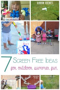 7 Screen Free Ideas for Summer Time Fun from @Rainy Day Mum