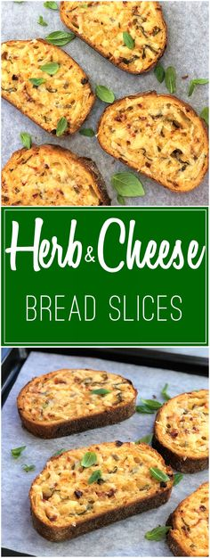 Savoury bread slices with cheese & herbs