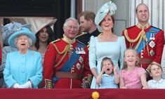 The co-ordinating Cambridges! Kate Middleton and Princess Charlotte look adorable in matching blue outfits for Trooping the Colour 2018