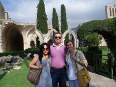 Kimberly Meyer, author of THE BOOK OF WANDERINGS, in Cyprus with Mehmet and Sevgi.