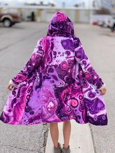 Electro Threads, Rose Violette, Cool Coats, Painted Clothes, Business Women, Everyday Fashion, Boho, Bohemian Style, Cloaks