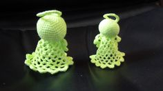 Neon Green Crochet Angel - Christmas Decoration by CraftsbyDesignMelton on Etsy