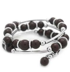 Brown and Silver wrap bracelet from Paparazzi Jewelry