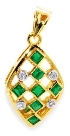 Diamond 18K Yellow Gold Natural Gemstone Emerald Pendant… Ruby Rings, Blue Sapphire Rings, Diamond Rings, Emerald Pendant, Gems And Minerals, Natural Gemstones, Jewelry Stores, Brooches, Bracelet Watch