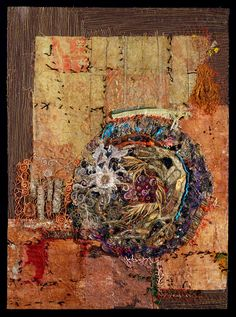 The Beast, stitched bubble wrap, machine and hand stitching, by Gordana Brelih Fiber Art Quilts, Textile Fiber Art, Textile Artists, Art Quilting, Crazy Quilting, Fabric Painting, Fabric Art, Textiles, Contemporary Embroidery
